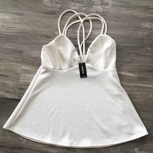 Express Small Strappy Off -White Sleeveless Top